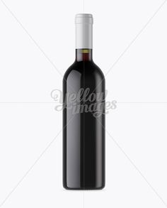 Antique Green Glass Bottle With Red Wine Mockup – Front View