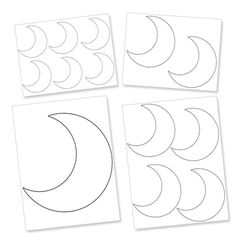 Printable Crescent Moon Template from PrintableTreats.com