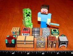 Custom Minecraft Lego Steve with Diamond Sword and by MadeByCLO, $39.95