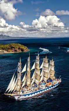 Sailing vessels the world over. Tall Ships, Old Sailing Ships, Ocean Sailing, Full Sail, Wooden Ship, Sail Away, Set Sail, Water Crafts, Phuket