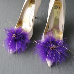 Mardi Gras Inspired  Purple  And Gold  Shoe by Chuletindesigns, $25.00