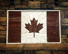 I am Canadian, and I was born and raised here, I am happy here and (I like the image because it was wood art) Wooden Wall Art, Diy Wall Art, Wooden Diy, Wood Art, Crafts To Do, Wood Crafts, Wall Art Canada, Canadian Flags, Flag Ideas