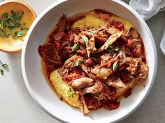 Pork Ragù with Polenta | Maintaining a healthy weight or trying to lose a few pounds ultimately revolves around the science of counting calories. It's a tedious task to tabulate every morsel you put in your mouth, but there's a simpler and much more flexible strategy: Start a file of skinny recipes. Use this collection of low-calorie dinners as a starting point. As always, taste comes first, so we've pulled together our best recipes that are big on flavor and in step with all the latest food
