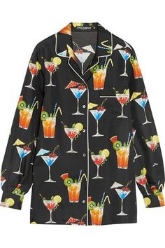 Dolce & Gabbana - Printed Silk-twill Shirt - Black - IT36