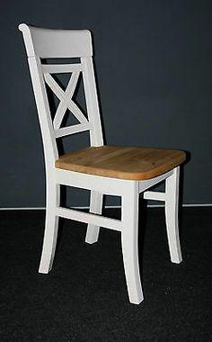 Küchenstuhl Stühle Stuhl esszimmerstühle Holz Kiefer massiv weiss gebeizt geölt | eBay