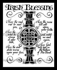Irish Blessing Celtic style
