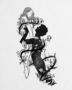 Roots Of Happiness All Over Graphic Tee by Muhammed Salah - Large Art Sketches, Art Drawings, Couple Art, Dark Art, Love Art, Art Inspo, Framed Art Prints, Fantasy Art, Artwork