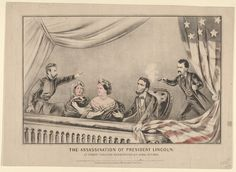 The Assassination of President Lincoln at Ford's Theatre, Washington D.C., April 14th, 1865