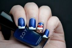 Nails by Kayla Shevonne: Christmas Nail Art - There Arose Such a Clatter...