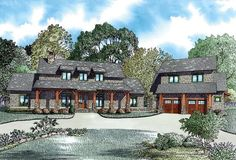 Country Craftsman Farmhouse House Plan 82085 Elevation