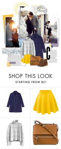 """""""A Piece of Sunshine in the Coldness"""" by frouwelinde ❤ liked on Polyvore featuring Balmain, Monki, LE3NO, Chicwish, Givenchy, WithChic, women's clothing, women, female and woman"""