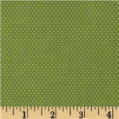 Santa's Workshop Mini Dot Green fabric