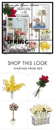 """Bring flowers to your home"" by nata0 ❤ liked on Polyvore featuring interior, interiors, interior design, home, home decor, interior decorating, Hanky Panky, Diane James and springflorals"