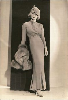 Bette Davis in Fashions of 1934 (1934), gowns by Orry-Kelly