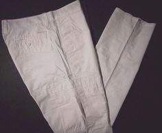 Calvin Klein men's jeans slim straight  cargo pants size 36x30 NWT color white #CalvinKleinJeans #Cargo