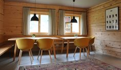 Schneiderei Schoppernau, holiday home in a former tailor shop, Austria, Vorarlberg Conference Room, Table, Trips, Europe, Spaces, Furniture, Home Decor, Environment, Dressmaking