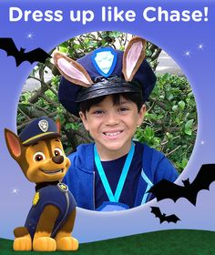 this diy chase costume is sure to rake in a lot of chase paw patrol