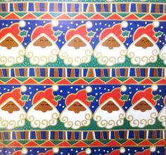 NTOS-Xmas-Kwanzaa-GiftWrap-4-Pattern-African-American-Black-Santa-Wrapping-Paper