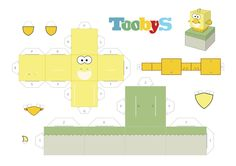 Toobys - bird paper toy - www.toobys.tv
