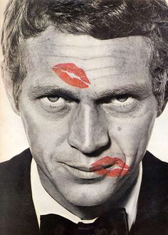 Steve Mac Queen and lipstick of Jean Shrimpton by Richard Avedon 1965