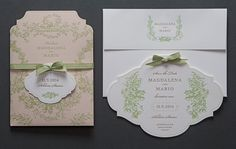 letterpress#wedding invitation#set