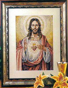 CURIOSA CORUJA: Gráfico Ponto Cruz - Sagrado Coração de Jesus