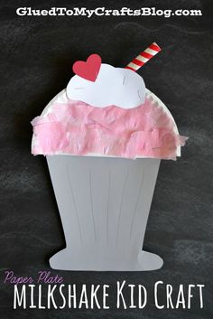 Paper Plate Milkshake {Kid Craft}