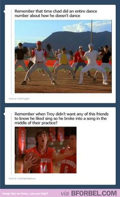 The problem with High School Musical…