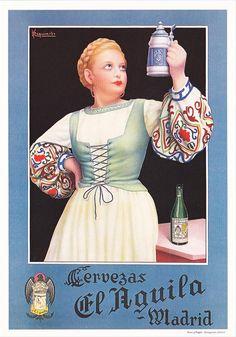 Anuncio antiguo de cervezas el Åguila
