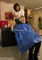 Shampoocape Wasch-/Friseurumhang PVC aus dem Kultsalon, wasserdicht a0008 blau