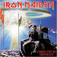 """TIL Iron Maiden released a recording of a backstage argument between drummer Nicko McBrain and bassist Steve Harris as a B-side to their classic song 2 Minutes To Midnight. The """"track"""" is called Mission From 'Arry ('Arry being Steve Harris' nickname) Albums Iron Maiden, Iron Maiden Album Covers, Iron Maiden Cover, Dave Murray, Hard Rock, Bruce Dickinson, Woodstock, Led Zeppelin, Playlists"""