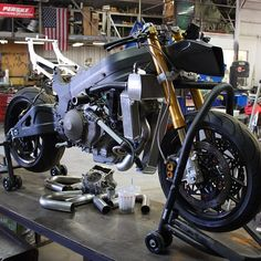 This is my RC51 SP2 project bike.I was fortunate enough to secure a lot of the spare parts from both the HRC USA & WSBK effort w/ Hayden & Edwards riding RC's back in the day.  Most of the parts are engine related to include Pankl Ti rods, HRC spec'd cams, springs etc.  I am building a 60-62mm 2 into 1 exhaust, w/ an older M4 Motec as the primary ECU.  It will never be my R1 but they are neat machines & at the time true Superbikes in the HRC quiver...