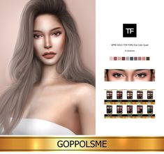 GOPPOLS Me — GPME-GOLD TOM FORD Eye Color Quad 10 Swatches ...