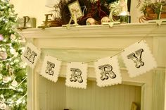 Make a MERRY banner….with printable