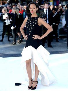 Zoe Saldana at the Star Trek premiere