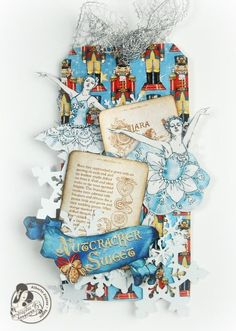 A beautiful Nutcracker Sweet tag by @Alberto Juarez Diaz. Such great fussy cutting and whimsical elements. #Graphic45 #tags
