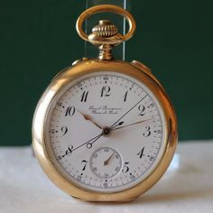 1905's GIRARD PERREGAUX CHRONOGRAPH SPLIT SEC RATTRAPANTE 18K GOLD POCKET WATCH | eBay