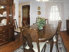 Low ceilings and plain drywall initially plagued this dining room. Dining Room Furniture, Furniture Decor, Ford Interior, Interior Design, 1970s Decor, Love Your Home, Home Renovation, Pennsylvania, Room Decor