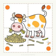 Preschool and children& animal puzzles, let& cut. - Preschool and children& animal puzzles, let& cut. Preschool and children& animal - Toddler Learning Activities, Preschool Learning Activities, Alphabet Activities, Preschool Activities, Activities For Kids, Farm Animals Preschool, Alphabet For Kids, Kids Education, Reptile Cage