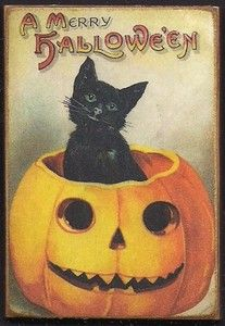 PUMPKIN. Wood Magnet Halloween Black Cat Pumpkin Clapsaddle Vintage Style Print 508   eBay #ebay #halloween