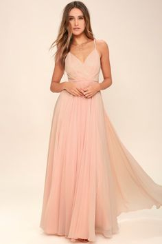 91bfb0aa84d3 All About Love Blush Pink Maxi Dress Blush Pink Dresses, Blush Pink  Bridesmaids, Peach
