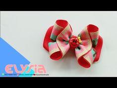 Laço Aula 🎀 Ribbon bow 🎀 DIY by Elysia Handmade Making Hair Bows, Diy Hair Bows, Diy Bow, Diy Ribbon, Ribbon Bows, Ribbon Bow Tutorial, Hair Bow Tutorial, Frozen Bows, Hair Ribbons