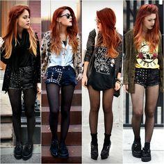 Hot pants com pegada rocker