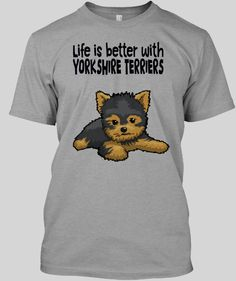 Yorkshire Terrier, Life Is Good, Boys, Mens Tops, T Shirt, Fictional Characters, Yorkshire Terriers, Baby Boys, Supreme T Shirt