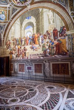 Miguel Angel, School Of Athens, Santa Sede, Vatican Rome, St Peters Basilica, Renaissance Artists, Church Architecture, Italian Art, Old Master
