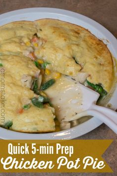 Chicken pot pie dinner recipe - a Quick 30-minute meal with just 5 minutes prep!