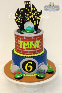 Ninja Turtles Cake, TMNT cake, Teenage Mutant Ninja Turtles birthday cake, Cakes by Camille, LLC