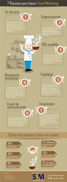 7 razones para hacer email marketing #infografia #infographic #marketing