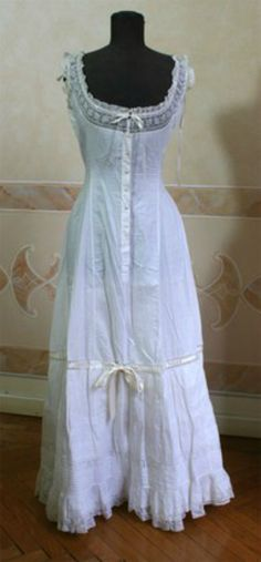 Chemises/Nightgowns:  Lovely Victorian Chemise.