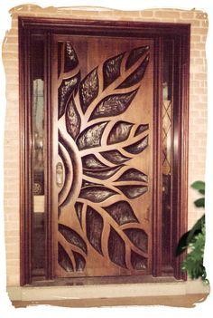 Are you looking for best wooden doors for your home that suits perfectly? Then come and see our new content Wooden Main Door Design Ideas. Wooden Main Door Design, Modern Wooden Doors, Front Door Design, Modern Door, Cool Doors, Unique Doors, Tropical Home Decor, Hawaiian Home Decor, Entrance Doors